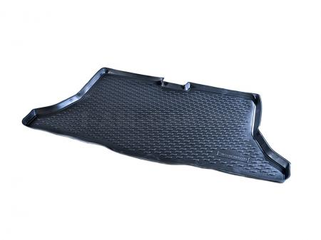 Коврик в багажник полиуретан Nissan Tiida HB  борт 30 мм 2007-