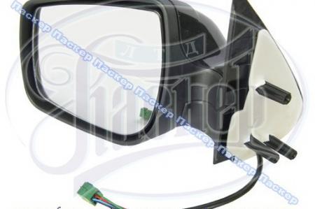 Зеркало наружное левое ВАЗ Калина с обогревом и электроприводом. Цвет -черный, 1118-8201021-74 / 11180820102174