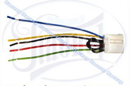 Колодка соединительная выключ.-клавиши электростеклоподъемников (в сборе с 7-ю проводами) 2106,3724568СБ7