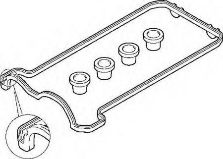 Прокладка клап. крышки л. MB W124 / W140 4.2 / 5.0 M119 91-95 475830