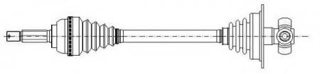 Приводной вал (привод) в сборе [abs] левый для RENAULT Megane / Scen 1, 4-16v / 1, 6-16v / 2, 0 / 1, 9D 96-> 17-0115