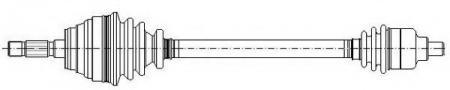 Приводной вал (привод) в сборе R [ABS] для FORD Mondeo 93-96 17-0258