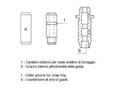 Направляющая клапана 01-2346