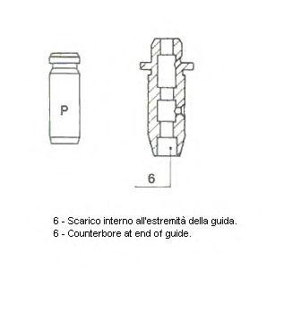Направляющая клапана 01-2539