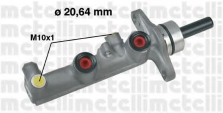 Главный тормозной цилиндр (20, 64mm) для TOYOTA RAV 4 2, 0/2, 0D 00 -> 05-0590