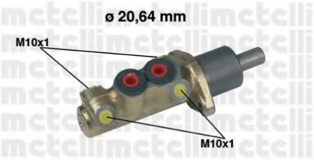 Главный тормозной цилиндр для VW Golf II 1, 0-1, 6 05-0039
