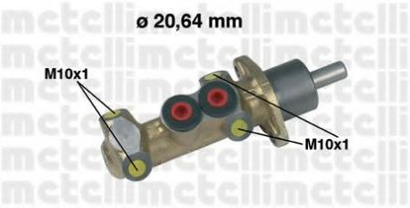 Главный тормозной цилиндр [20, 64mm] для FIAT Punto / Tempra / Tipo, LANCIA Dedra / Y 87-03 05-0044