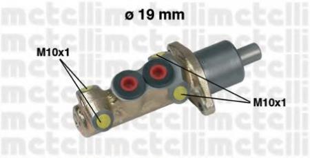 Главный тормозной цилиндр [19, 05mm] для CITROEN, PEUGEOT, RENAULT 83 -> 05-0061