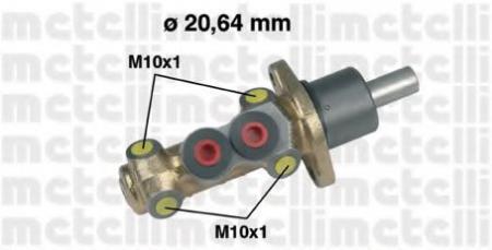 Главный тормозной цилиндр для VW Golf II 1, 8-1, 6;Passat 1, 6 05-0142