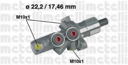 Главный тормозной цилиндр для MERCEDES W201, W202 ->8/93 05-0175