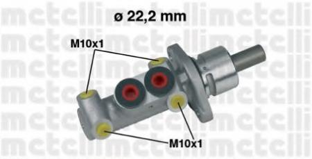 Главный тормозной цилиндр для VW Gof III 1.6-2.0 / 1.9TDI 7 / 93-4 / 99 , Passat B3 / B4 1.6-2.8 88-96 .Polo 5 / 97-9 / 01 05-0302