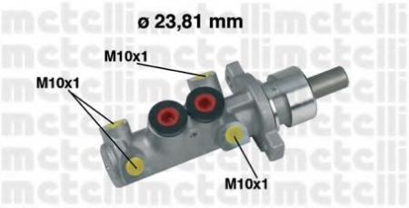 Главный тормозной цилиндр [23, 81mm] для CITROEN Berlingo, PEUGEOT 406 без ABS/Partner 95 -> 05-0361