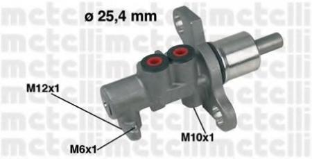 Главный тормозной цилиндр (25, 4mm) для AUDI / VW A-4;A-6;A-8;Passat; (с ESP) 05-0368