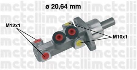 Главный тормозной цилиндр [20, 64mm] для RENAULT Clio 1, 1/1, 2/1, 4/16V/1, 9D 98 -> 05-0388