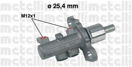 Главный тормозной цилиндр (25, 4mm) для AUDI/VW A-4:A6;A-8;Passat; (без ESP) 05-0402