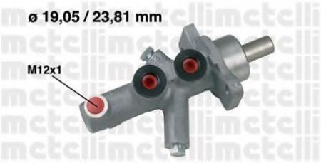 Главный тормозной цилиндр (19, 05 / 23, 81mm) для MERCEDES W202 93-02 05-0622