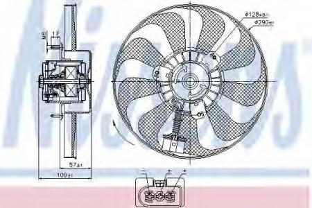 Вентилятор охлаждение двигателя 85684