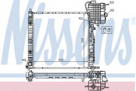 Радиатор VITO 2.0-2.8 АКПП 96-03 (MS2350) 62561A