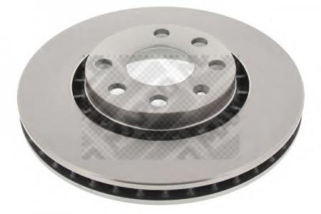 Диск тормозной передний OPEL Vectra A-B 1, 6-2, 0 / 1, 7TD / 2, 0DTI , Astra 1, 6- (MAPCO) 15743