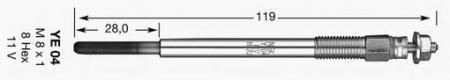 Свеча накала для FORD Fiesta / Focus двигатели F6JA / F6JB / HHJA / HHJB / F6JA; CITROEN / PEUGEOT 1684