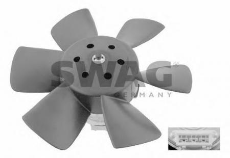 Вентилятор радиатора Audi 80, VW Golf, Passat, Polo 80-00 30906990