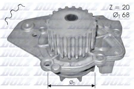 Помпа Peugeot 306 / 405, Citroen Xantia / ZX 1.7D / TD-1.9D / TD 88 -> N-206