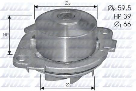 Помпа Fiat Brava / Bravo / Marea 1.4 12V 95 -> S-211
