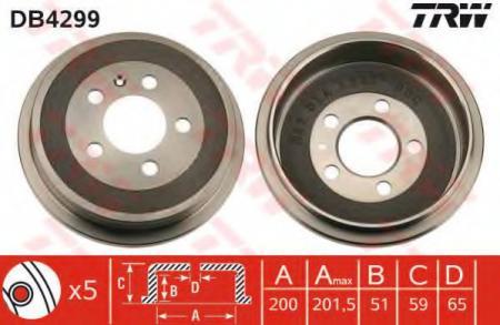 Тормозной барабан VAG DB4299