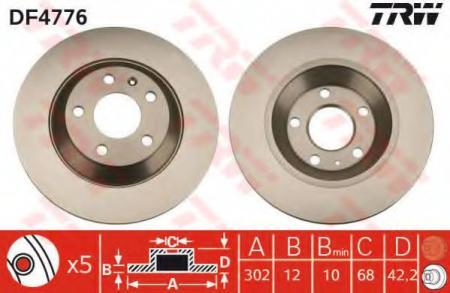Тормозной диск VAG A6 Allroad (4FH) DF4776