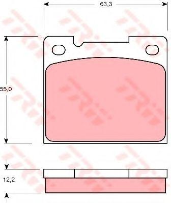 Комплект дисковых тормозных колодок VOLVO GDB1066
