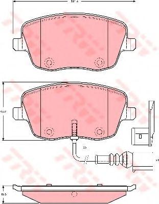 Комплект дисковых тормозных колодок VAG GDB1472