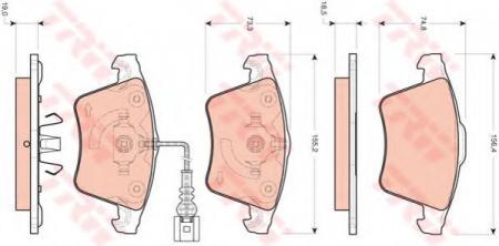 Комплект дисковых тормозных колодок VAG Cayenne (955) GDB1721
