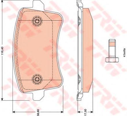 Комплект дисковых тормозных колодок VAG A4, A5 GDB1765