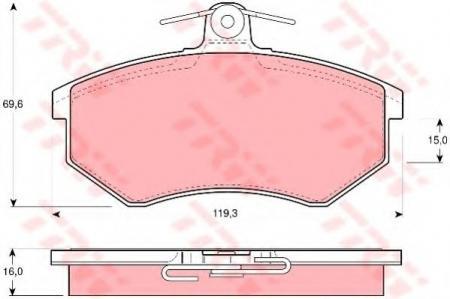 Комплект дисковых тормозных колодок VAG GDB430
