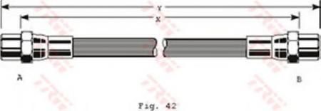 Тормозной шланг VAG PHA286