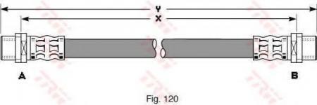 Тормозной шланг VAG PHA295
