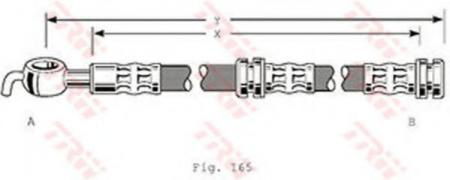 Тормозной шланг VOLVO S40, V40 PHD347