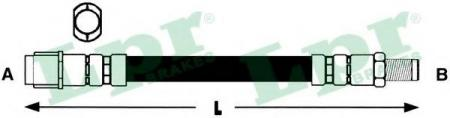 Шланг тормозной пер.W168 1.4-1.7TD 97-04 6T46769