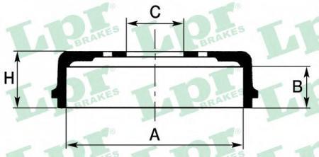 Барабан тормозной SPECTRA 1.6 (ИЖ) 05- (DB4288) 7D0579