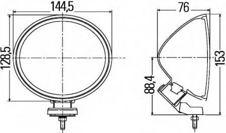 Фара дальнего света  Фара дальн. света Comet FF-200 (компл. 2 фары, ц/к базальт) Дополнительная оптика на автомобили, , 1F4 007 893-841