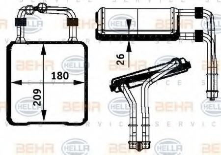 Радиатор отопителя W211 / W219 03-(72029) 8FH 351 311-191