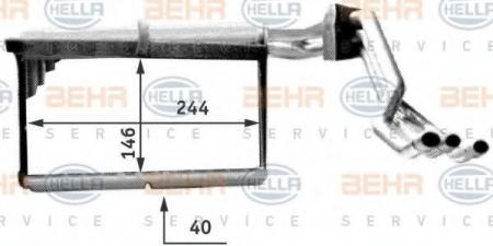 Радиатор отопителя E34 / E32 (70506) 8FH 351 312-771
