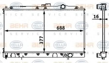 Радиатор GALANT 1.8 / 2.0 87-92(62830) 8MK 376 708-111