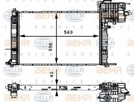 Радиатор VITO (638) 2.2D-03 (62561A) 8MK 376 714-311