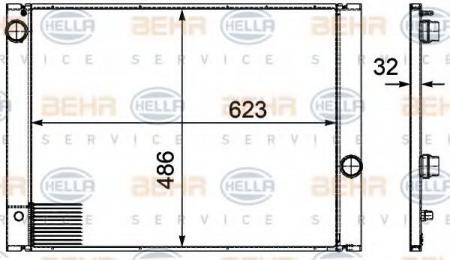 Радиатор E60 / E61 / E63 2.0-5.0 (60763) 8MK 376 719-131