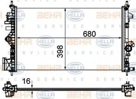 Радиатор INSIGNIA 1.6 / 1.8 МКПП 08- 8MK 376 754-321
