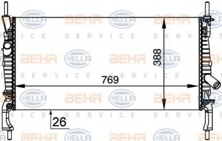 Радиатор (+A / C) TRANSIT 06- 8MK 376 764-411