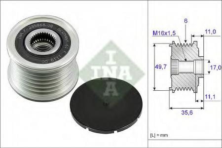Шкив генератора W211 2.0TD-2.8TD 01- 535 0086 10