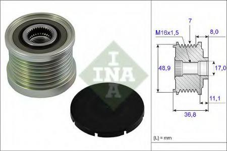 Шкив генератора MAZDA 6 / LAGUNA 1.8-2.3 02- 535 0081 10