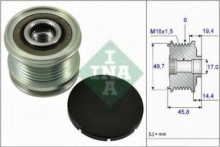 Шкив генератора SPRINTER 06- 535 0168 10